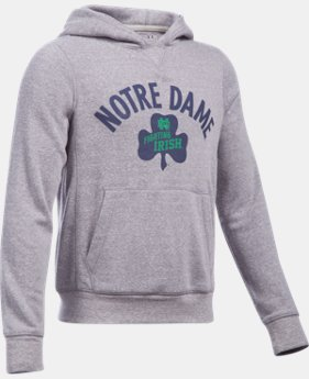 Kids' Notre Dame UA Iconic 6 Hoodie  1 Color $56.99