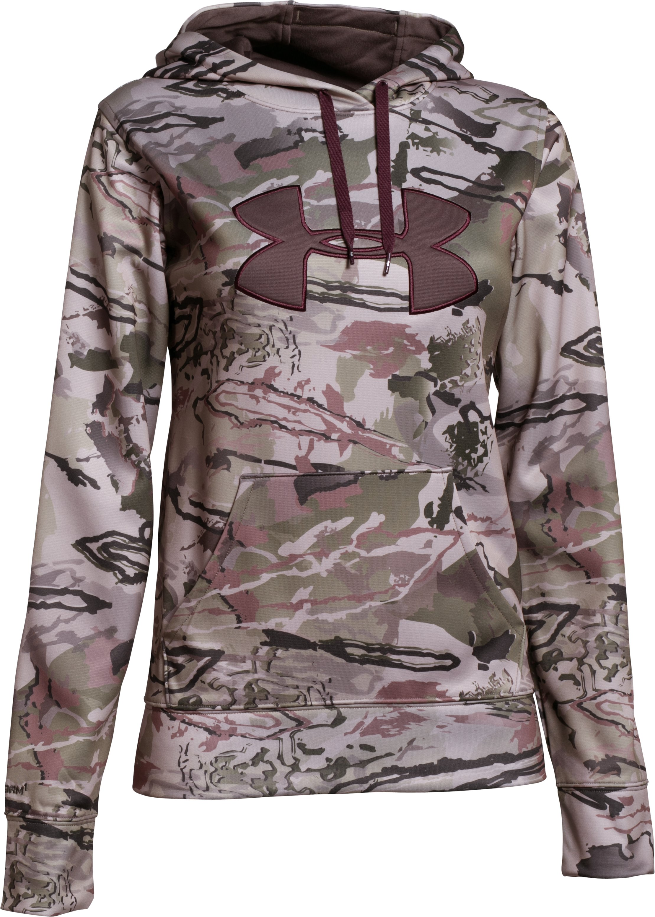 Women's  Armour Fleece® Camo Big Logo Hoodie, RIDGE REAPER® BARREN,