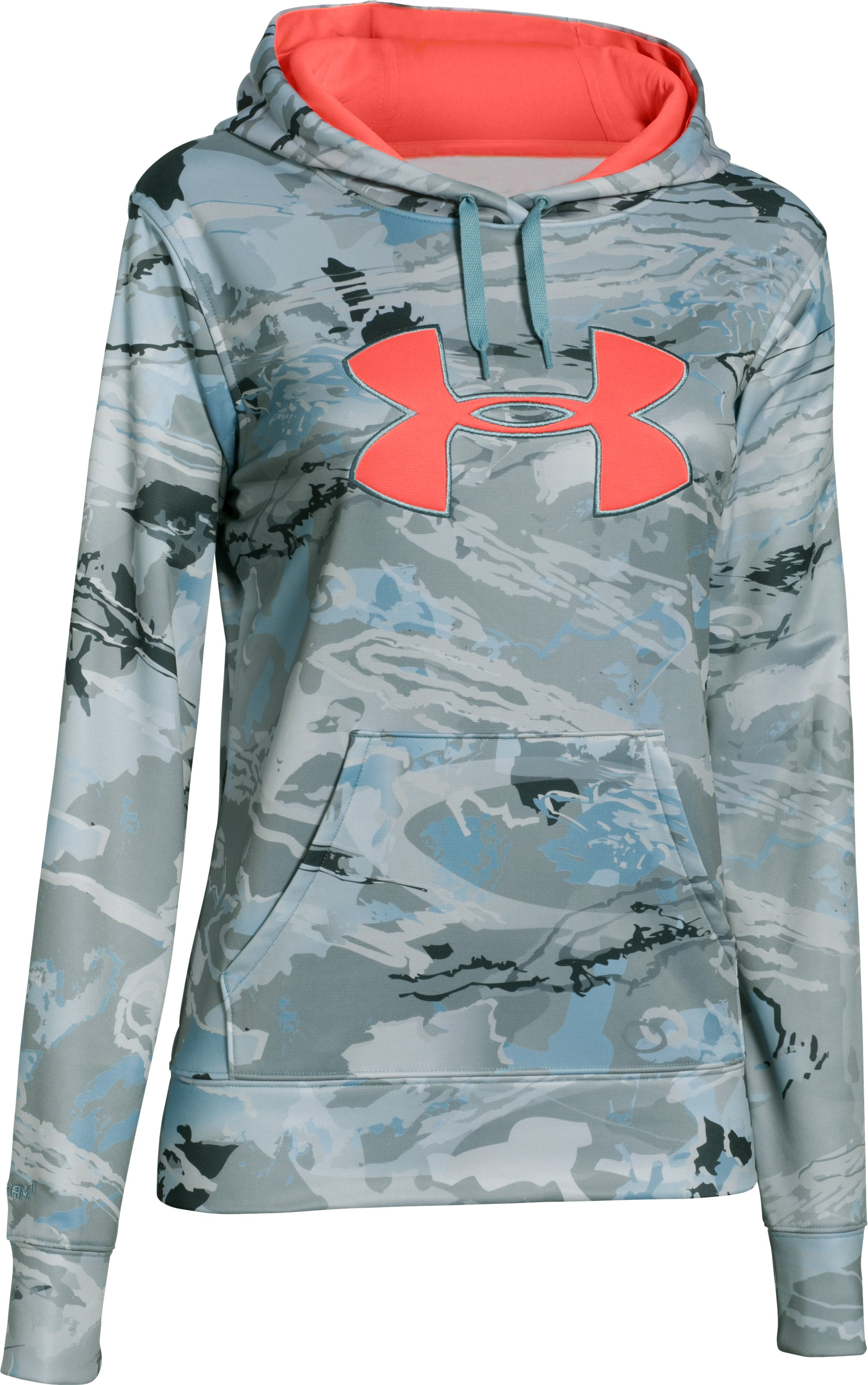 Women's UA Armour® Fleece Camo Big Logo Hoodie, RIDGE REAPER® HYDRO