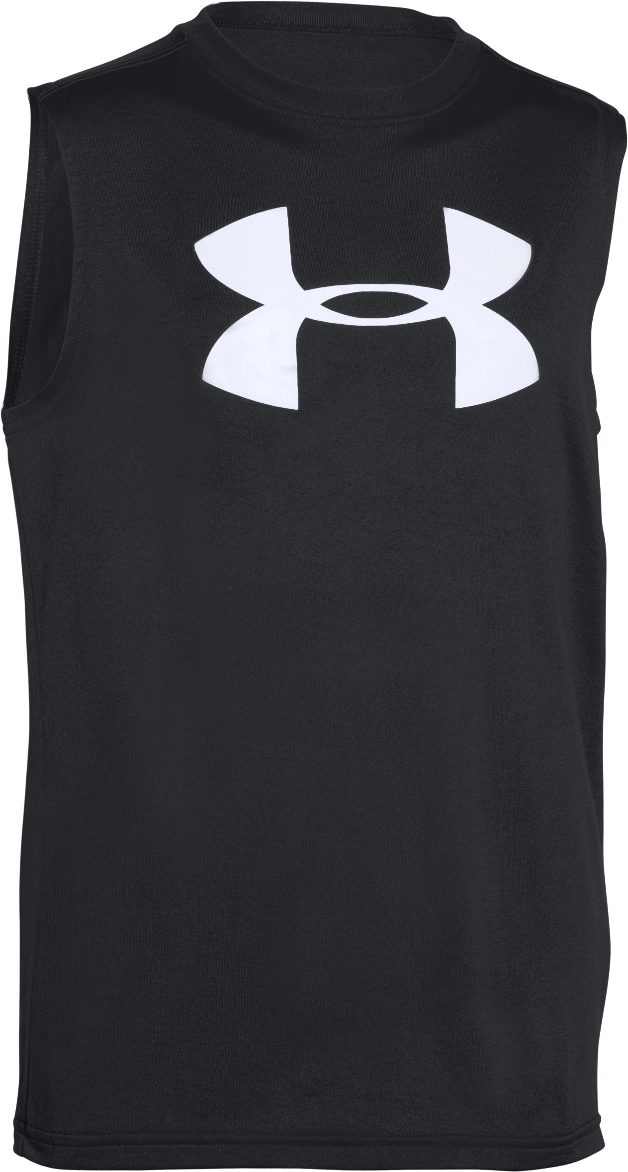 Boys' UA Big Logo Sleeveless T-Shirt, Black ,