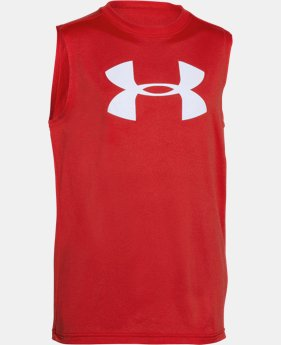 Boys' UA Big Logo Sleeveless T-Shirt  2 Colors $17.24