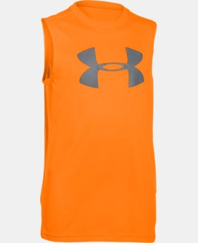 Best Seller Boys' UA Big Logo Sleeveless T-Shirt LIMITED TIME: FREE SHIPPING 1 Color $19.99