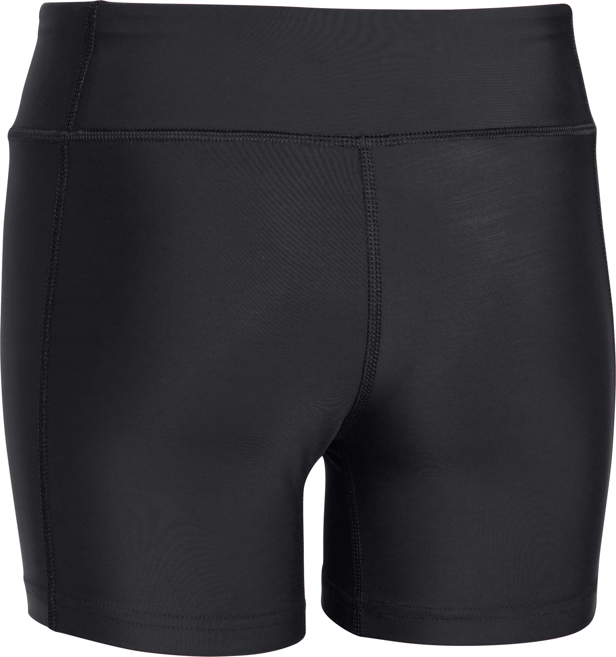 "Girls' UA On The Court 4"" Shorts, Black"