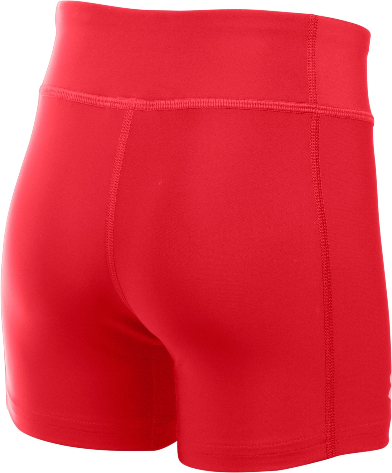 "Girls' UA On The Court 4"" Shorts, Red, undefined"