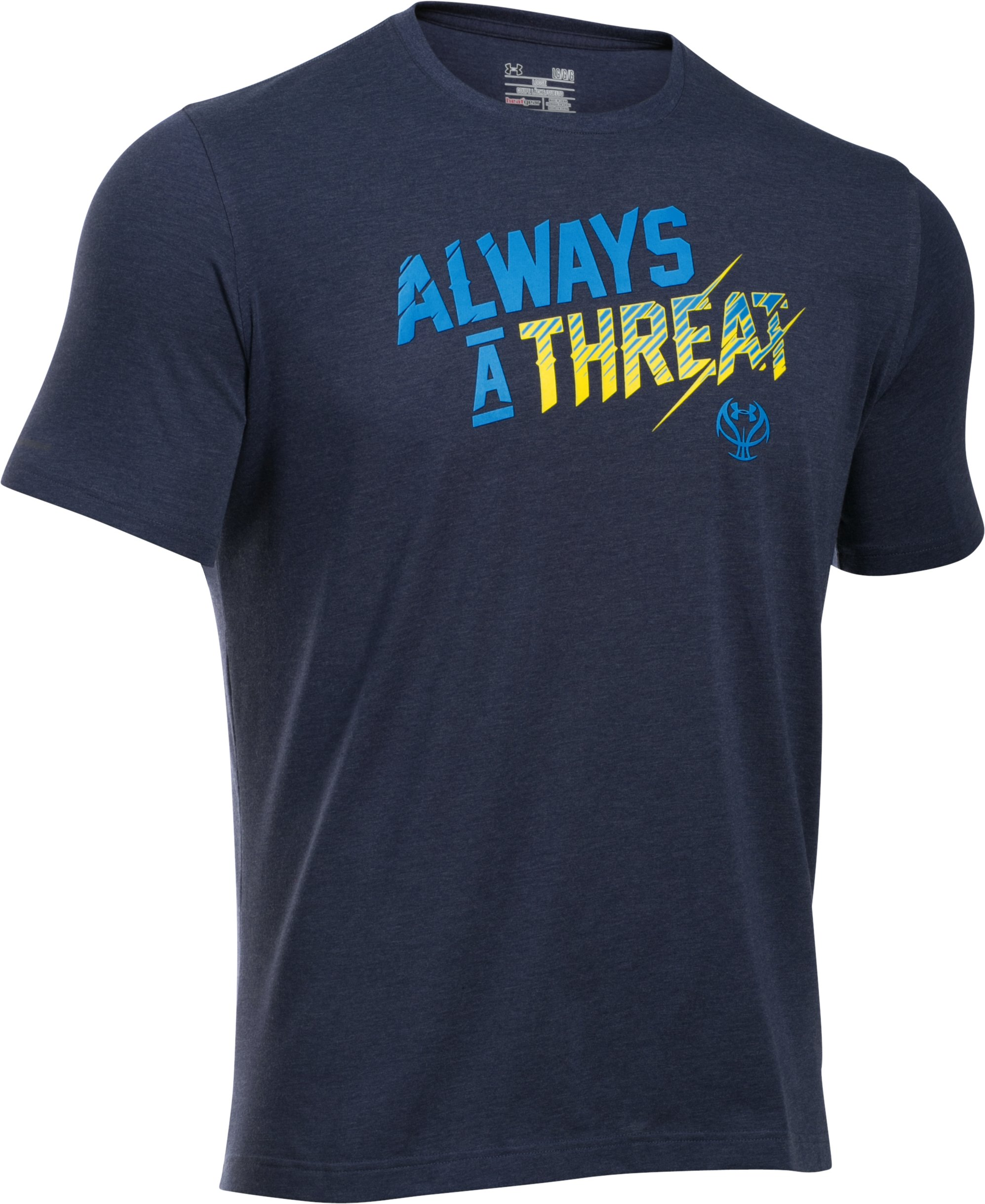 Men's UA Always A Threat T-Shirt, Midnight Navy, undefined