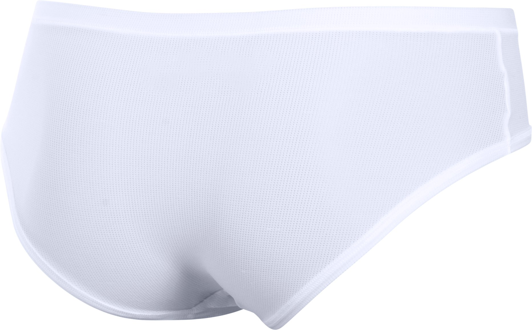 Women's UA Pure Stretch Sheer Hipster, White,