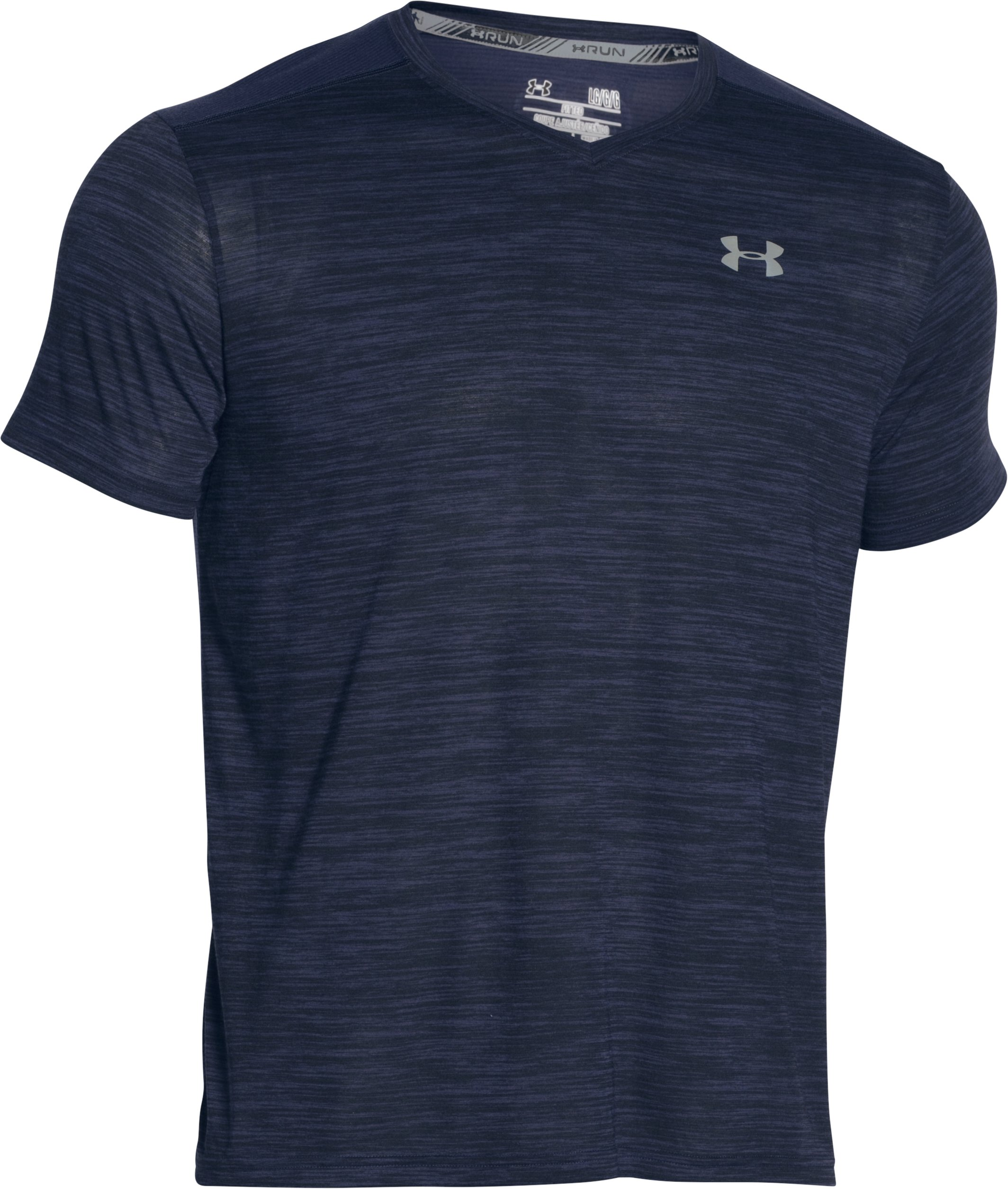Men's Threadborne™ Streaker Run V-Neck T-Shirt, Midnight Navy
