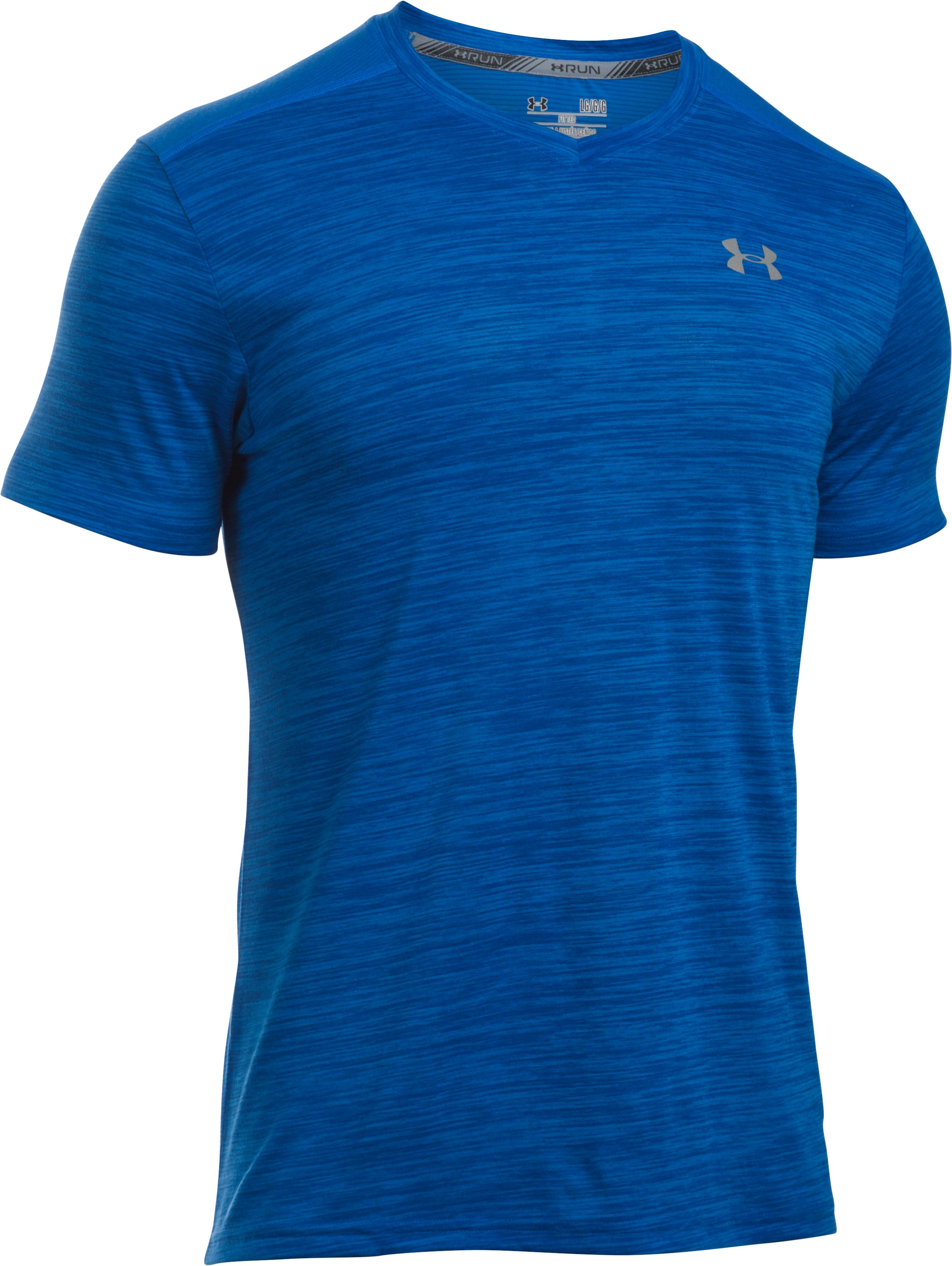 Men's Threadborne™ Streaker Run V-Neck T-Shirt, ULTRA BLUE,