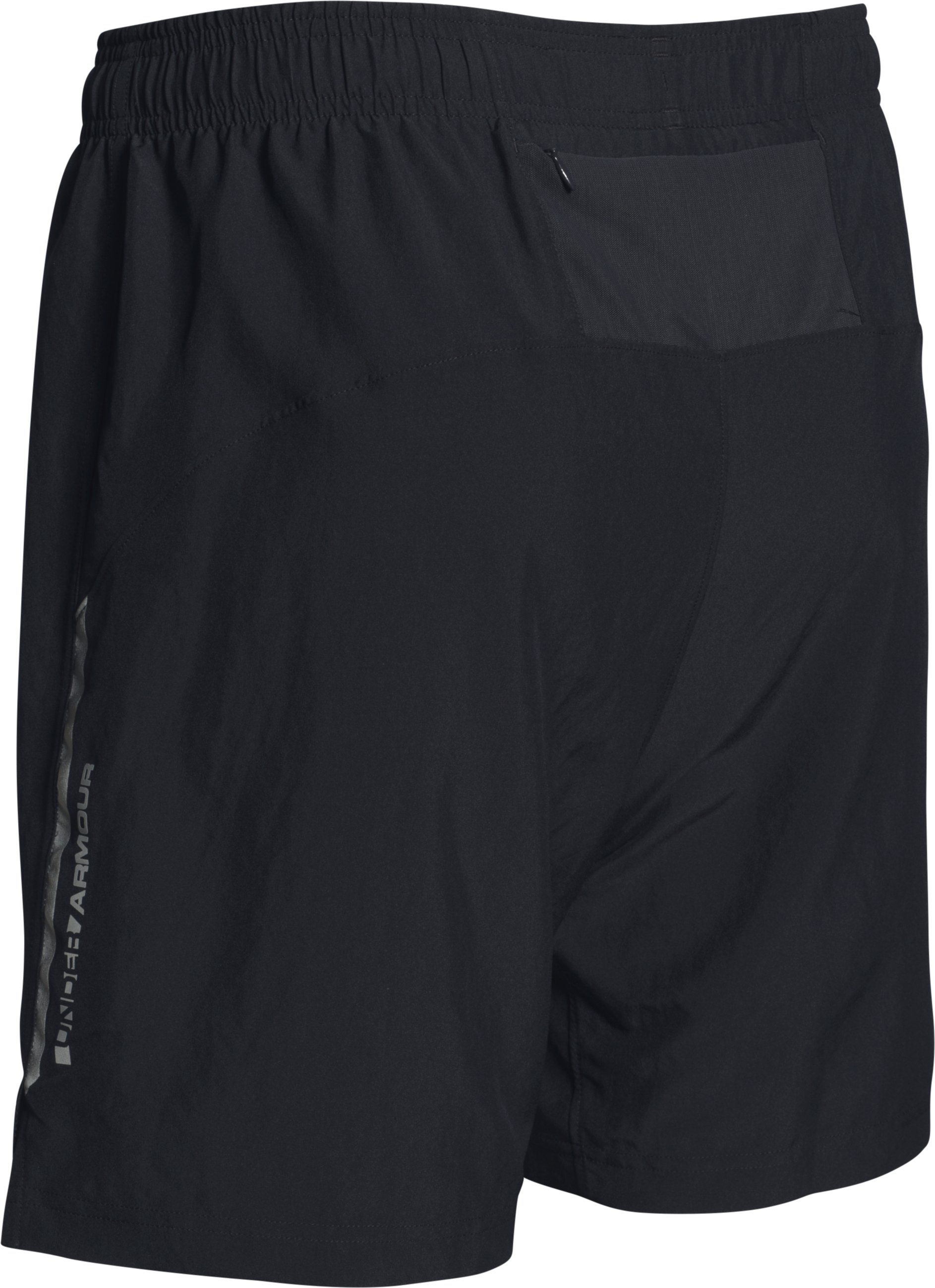 Men's UA CoolSwitch Run 2-in-1 Shorts, Black , undefined