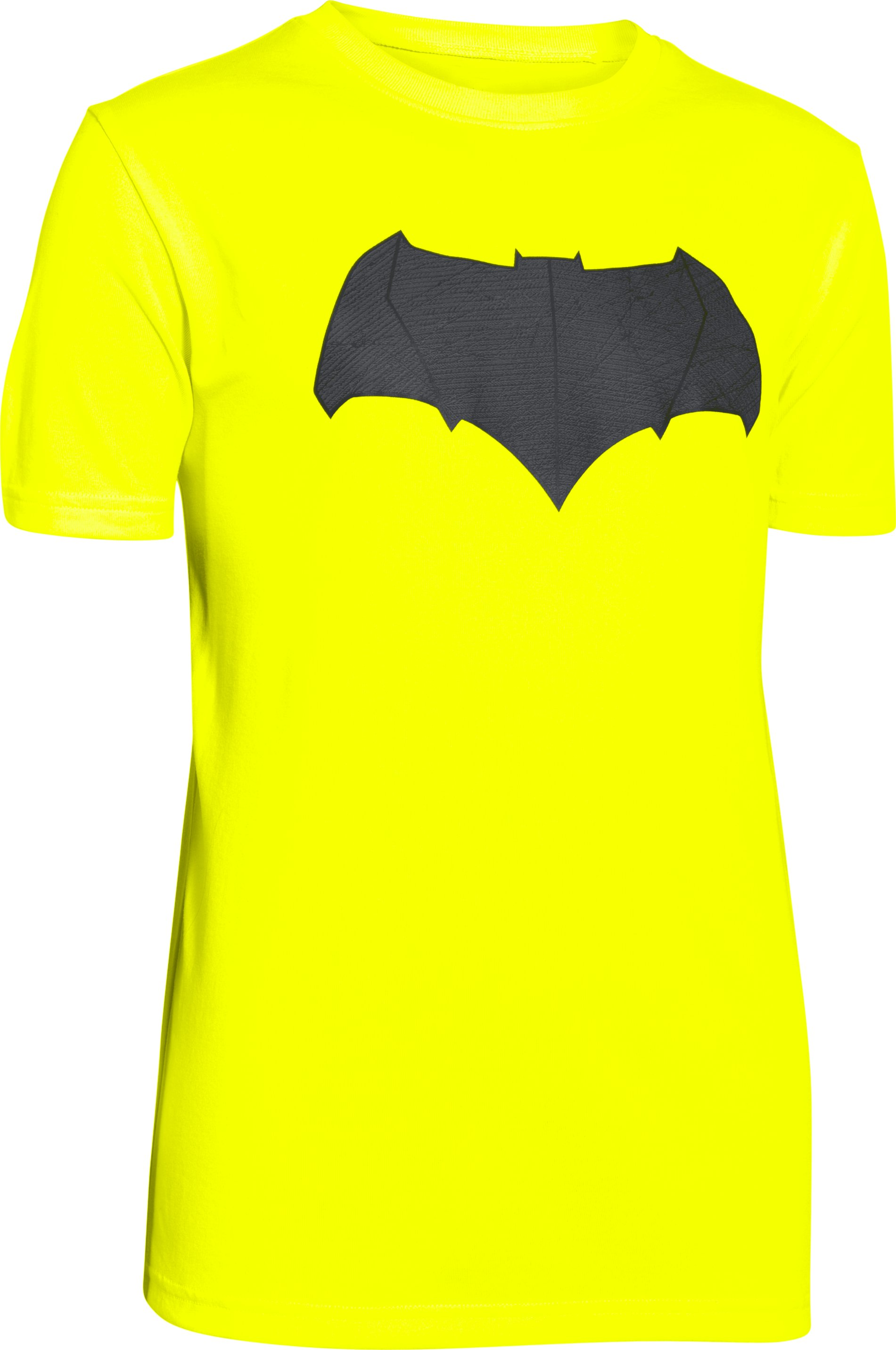 Boys' Under Armour® Alter Ego Batman Logo T-Shirt, High-Vis Yellow