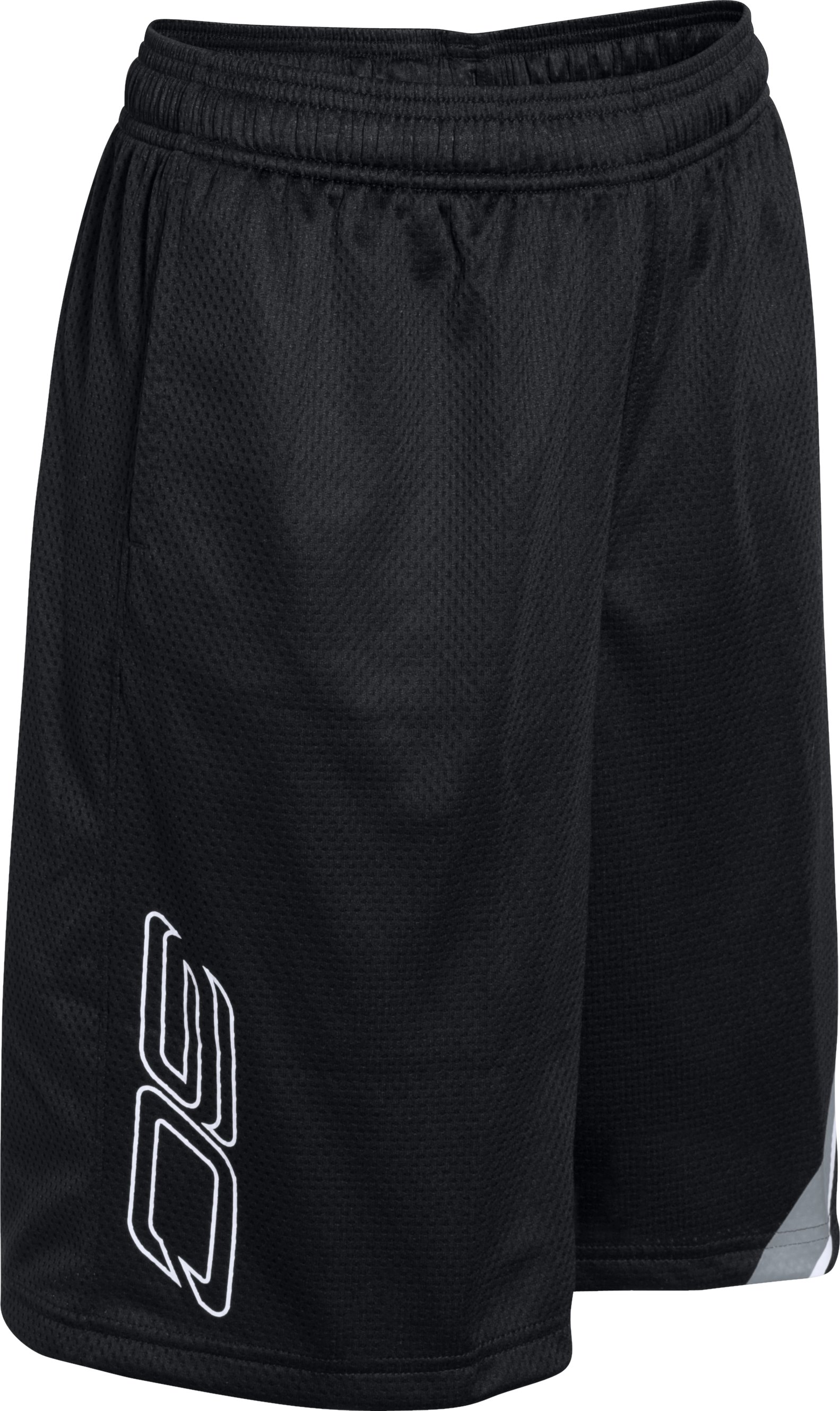 Boys' SC30 Essentials Basketball Shorts, Black