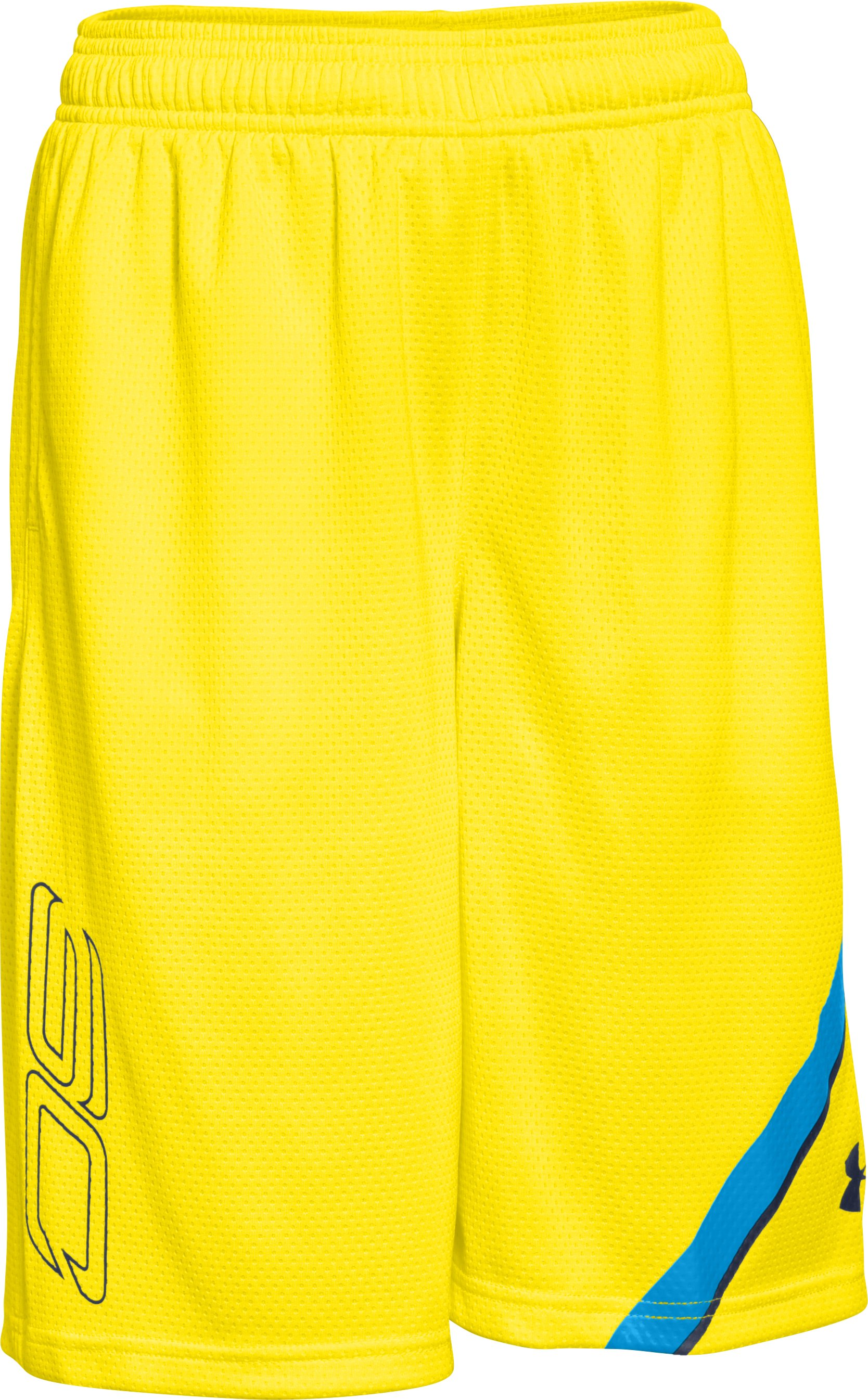 Boys' SC30 Essentials Basketball Shorts, Sunbleached,