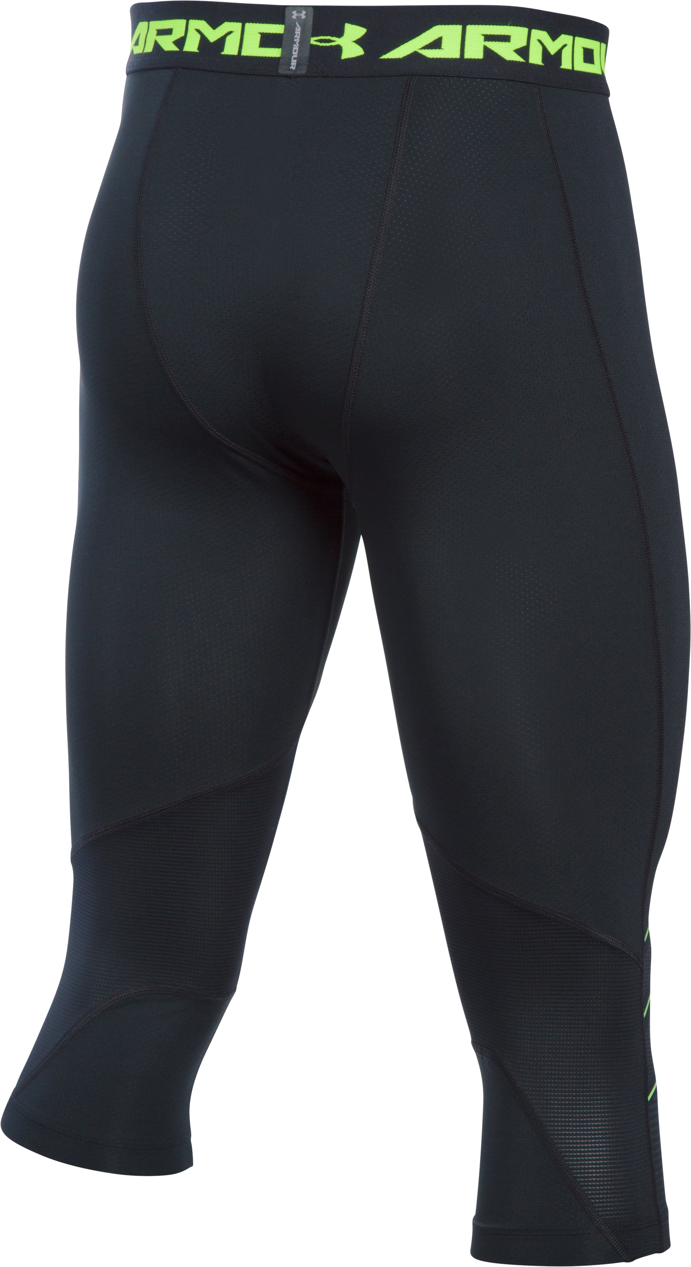 Men's UA CoolSwitch Armour Football Compression ¾ Legging, Black