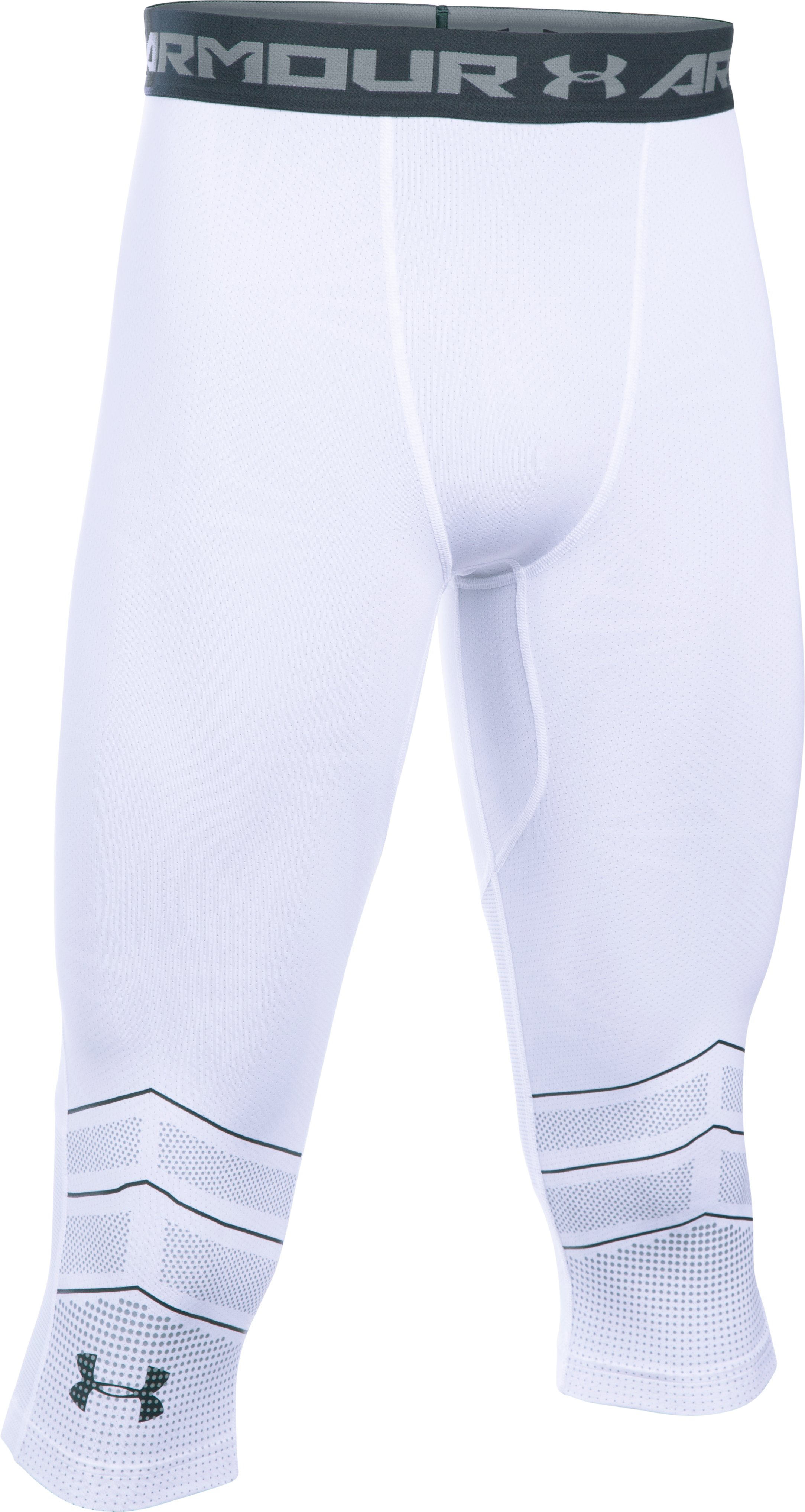 Men's UA Football CoolSwitch Compression ¾ Legging, White
