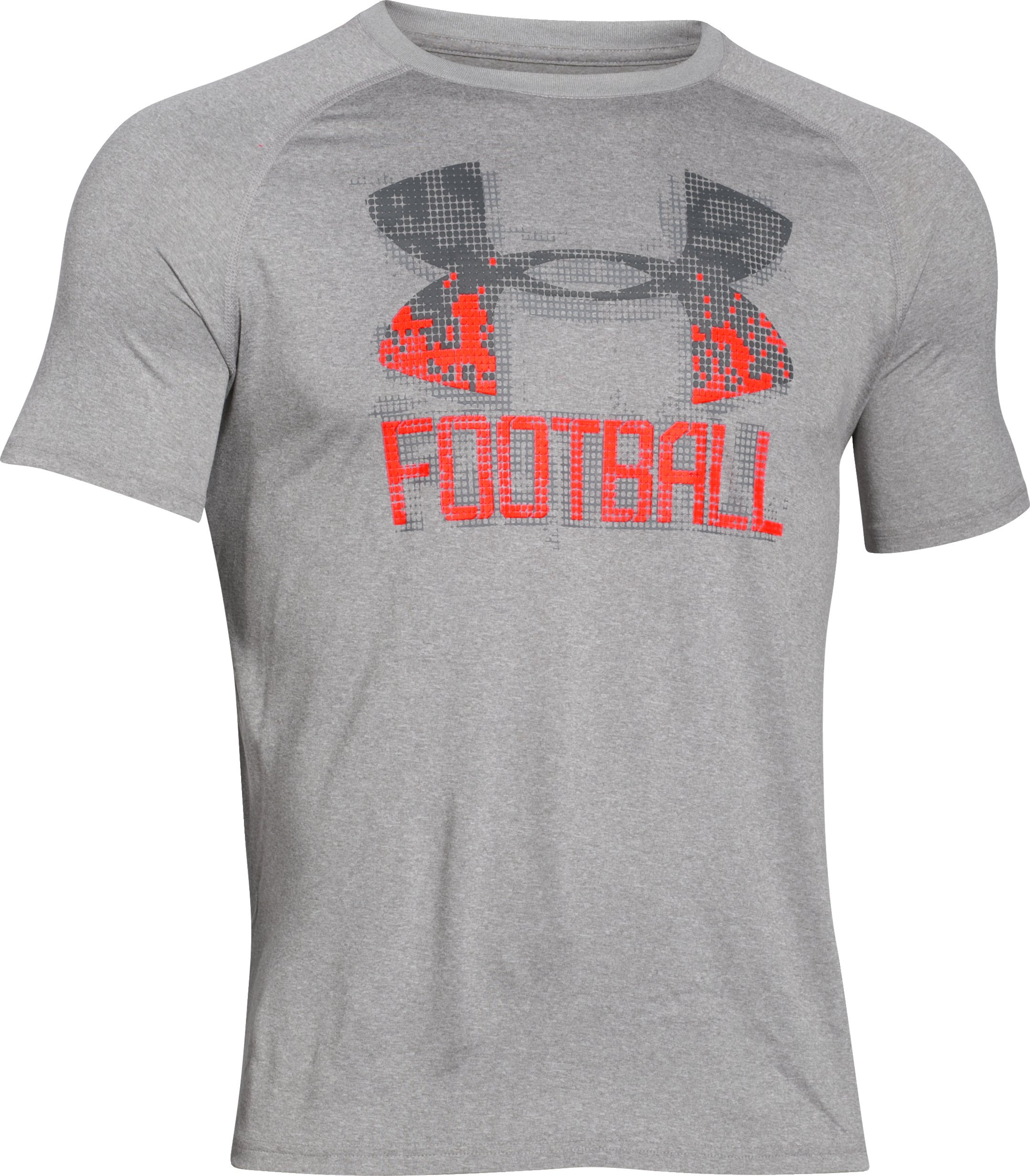 Men's UA Football Icon T-Shirt, True Gray Heather, undefined