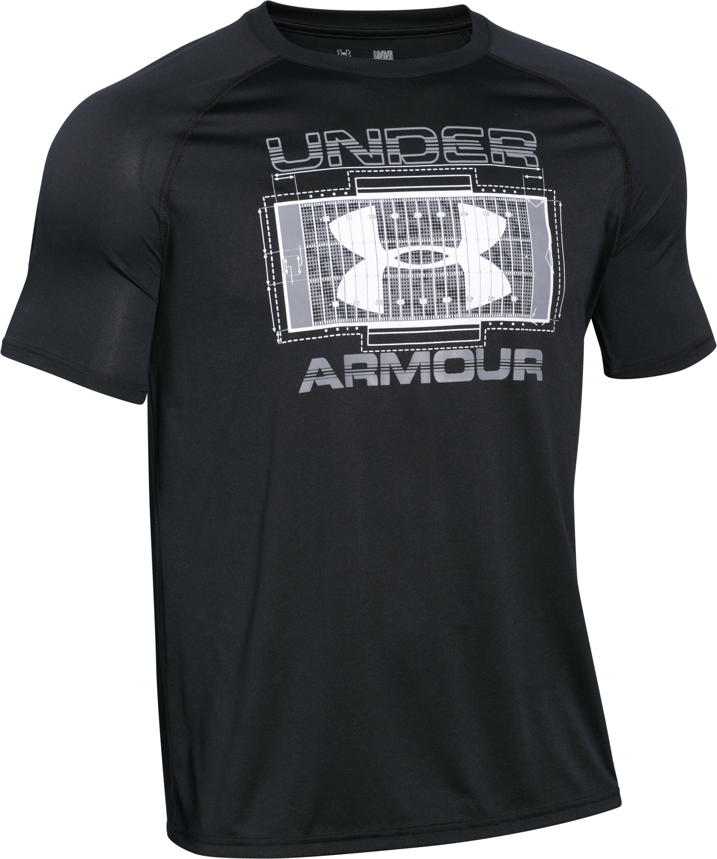 Men's UA Football Field T-Shirt, Black , undefined