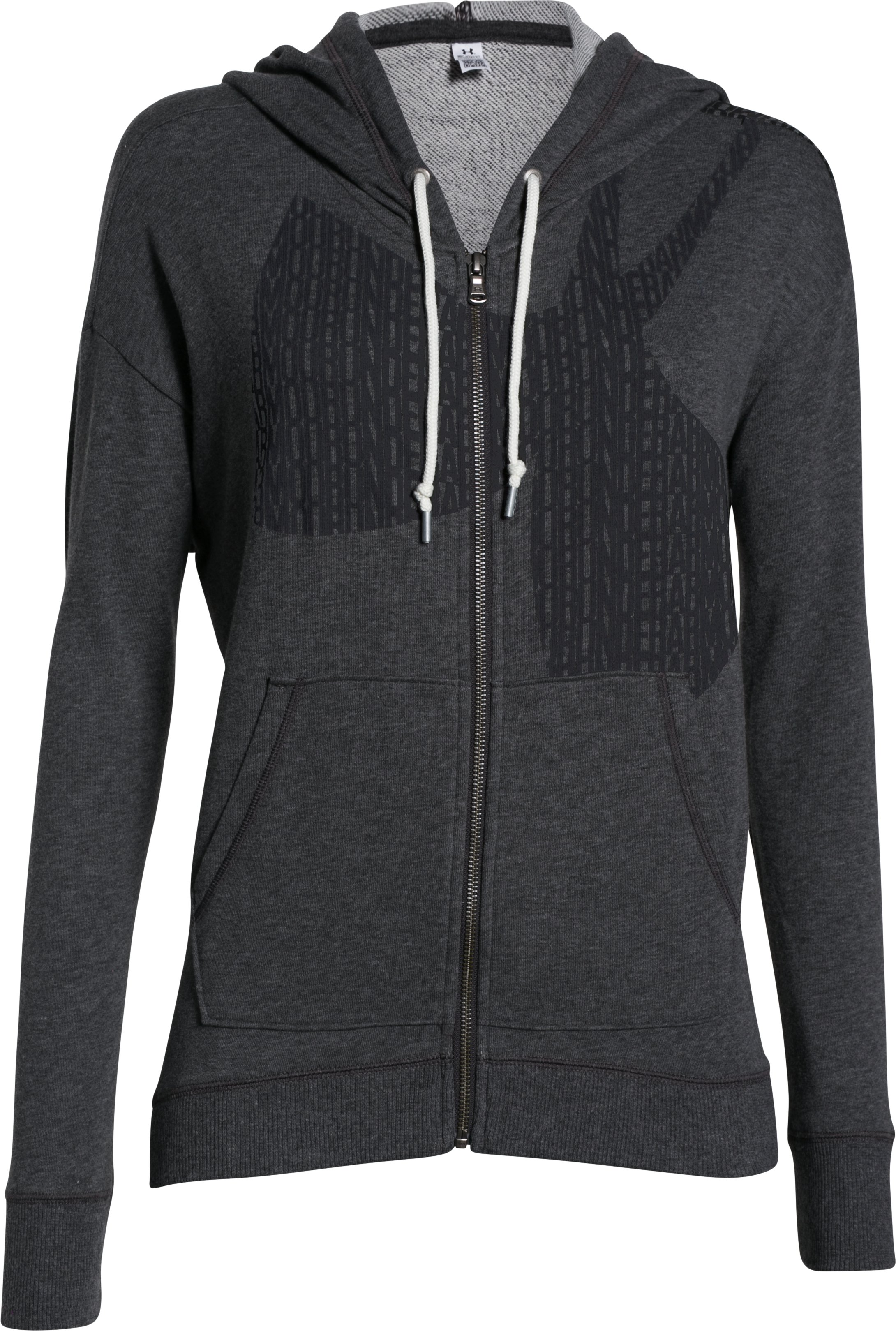 Women's UA Favorite French Terry Full-Zip, Carbon Heather,