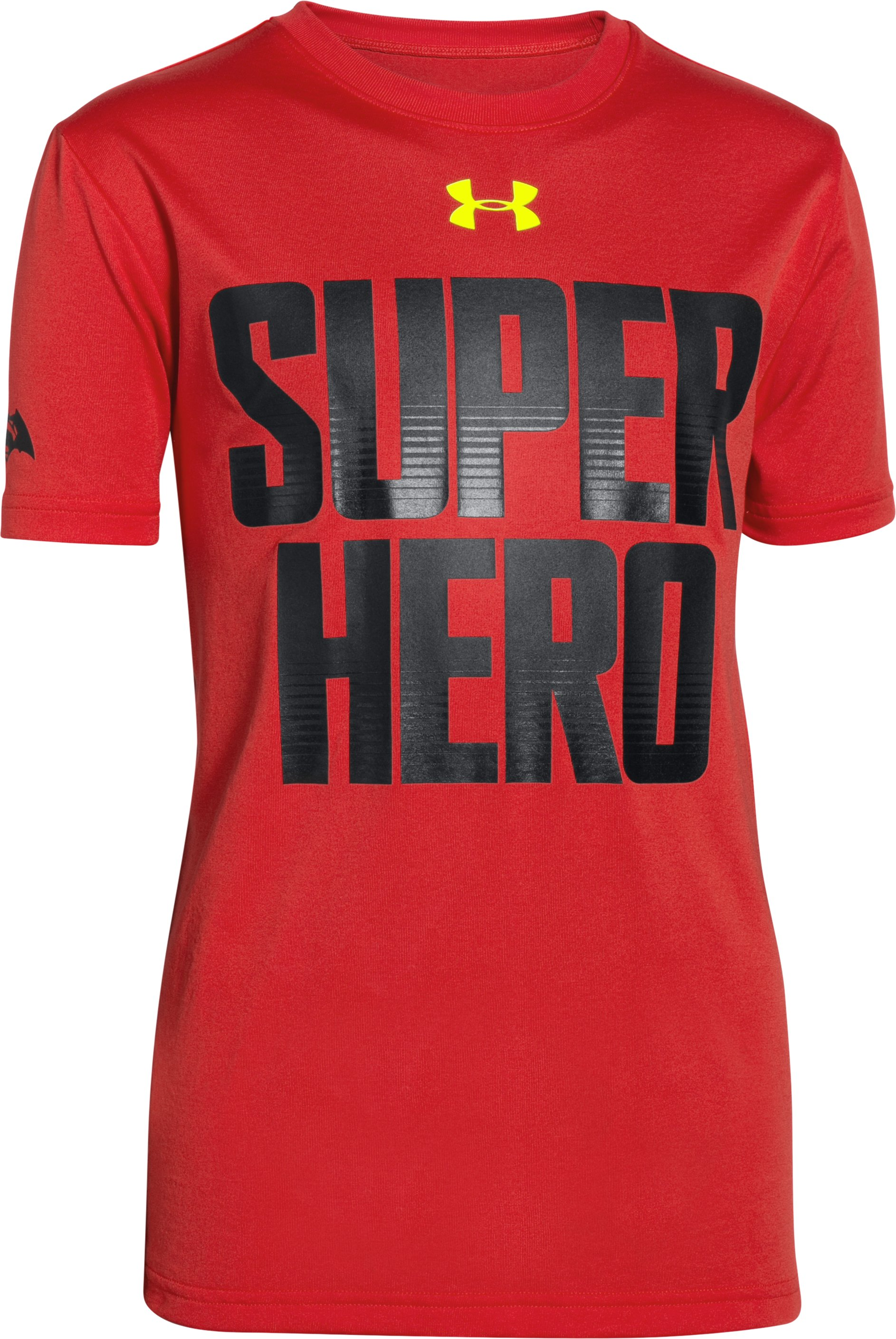 Boys' Under Armour® Alter Ego Superman/Batman Reversible T-Shirt, RISK RED