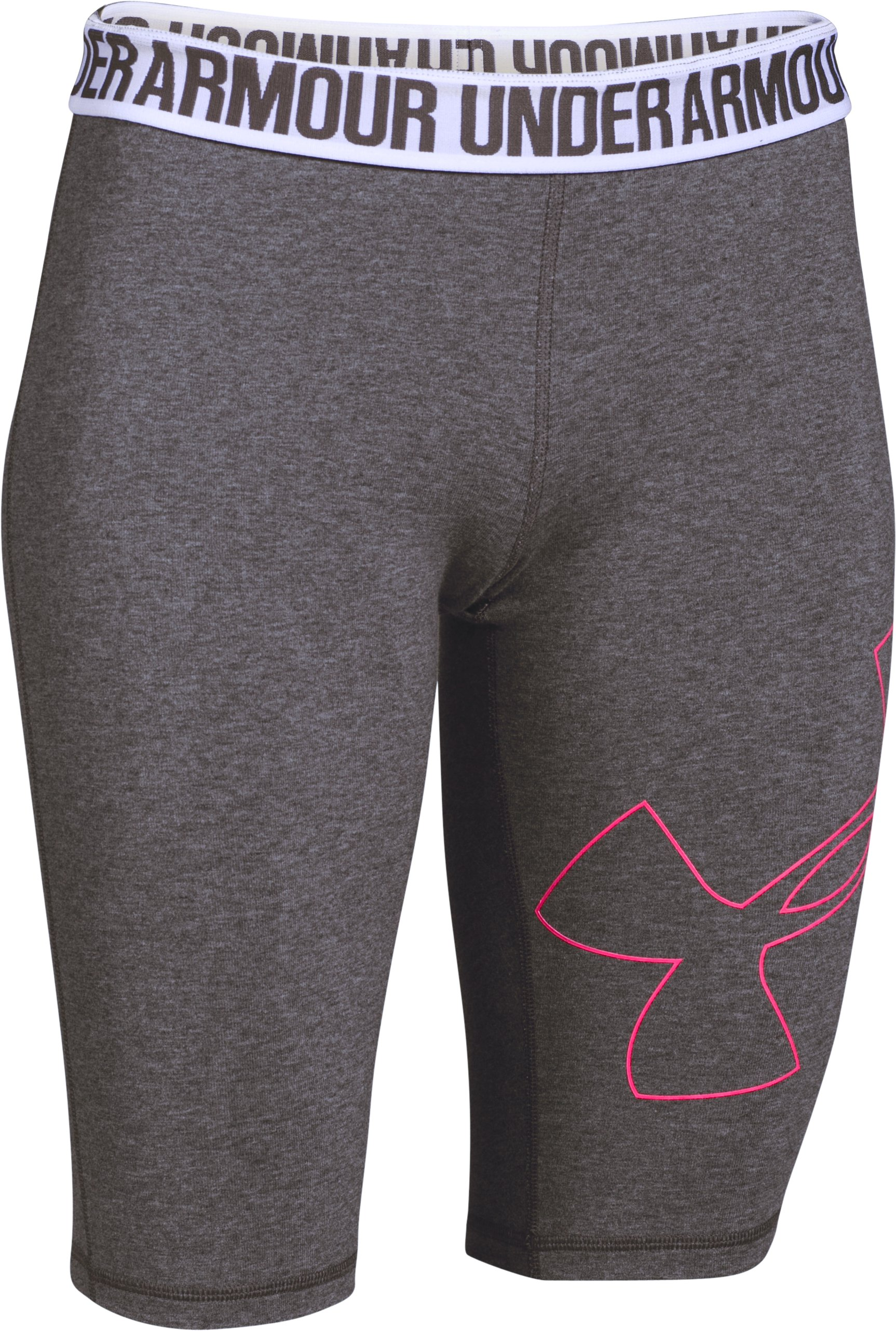 Women's UA Favorite Outline Knee Capri, Carbon Heather