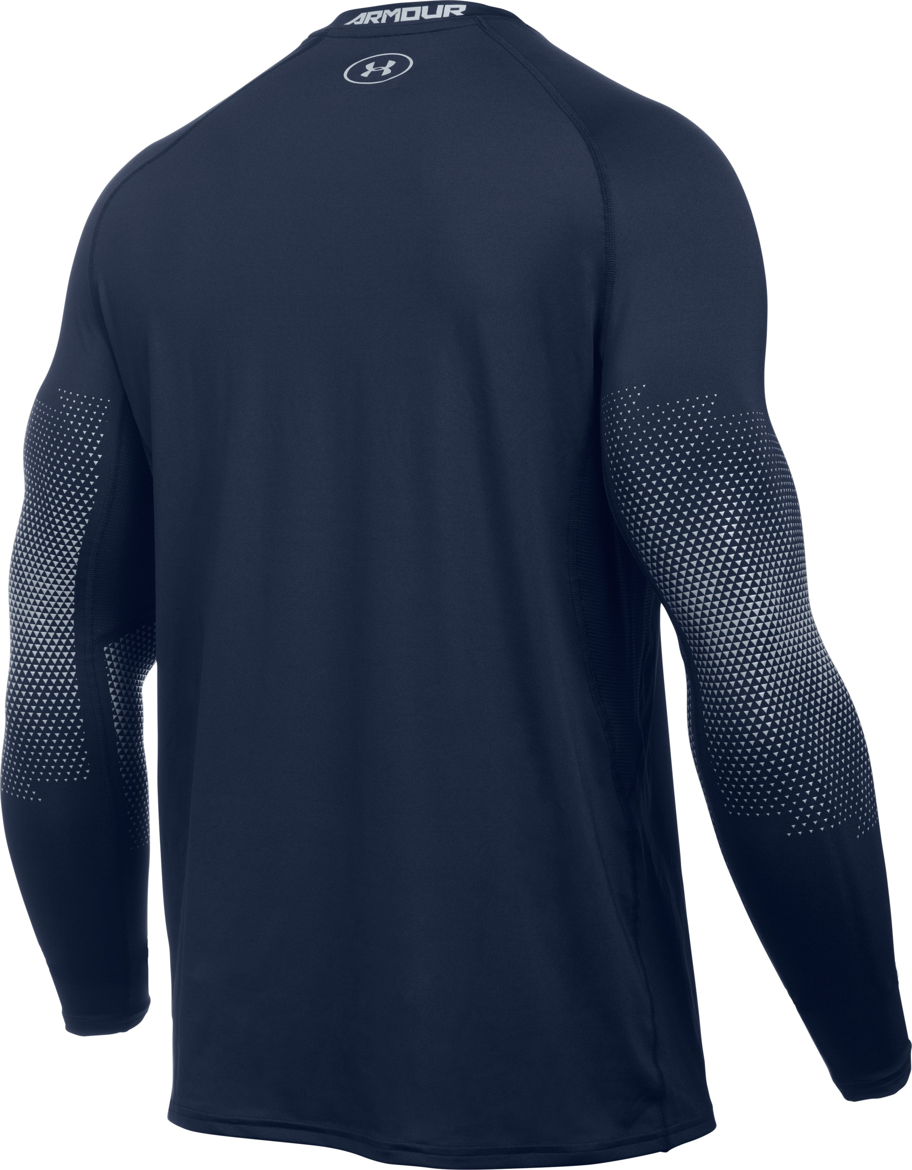 Men's UA Purestrike Grippy Fitted Long Sleeve, Midnight Navy, undefined