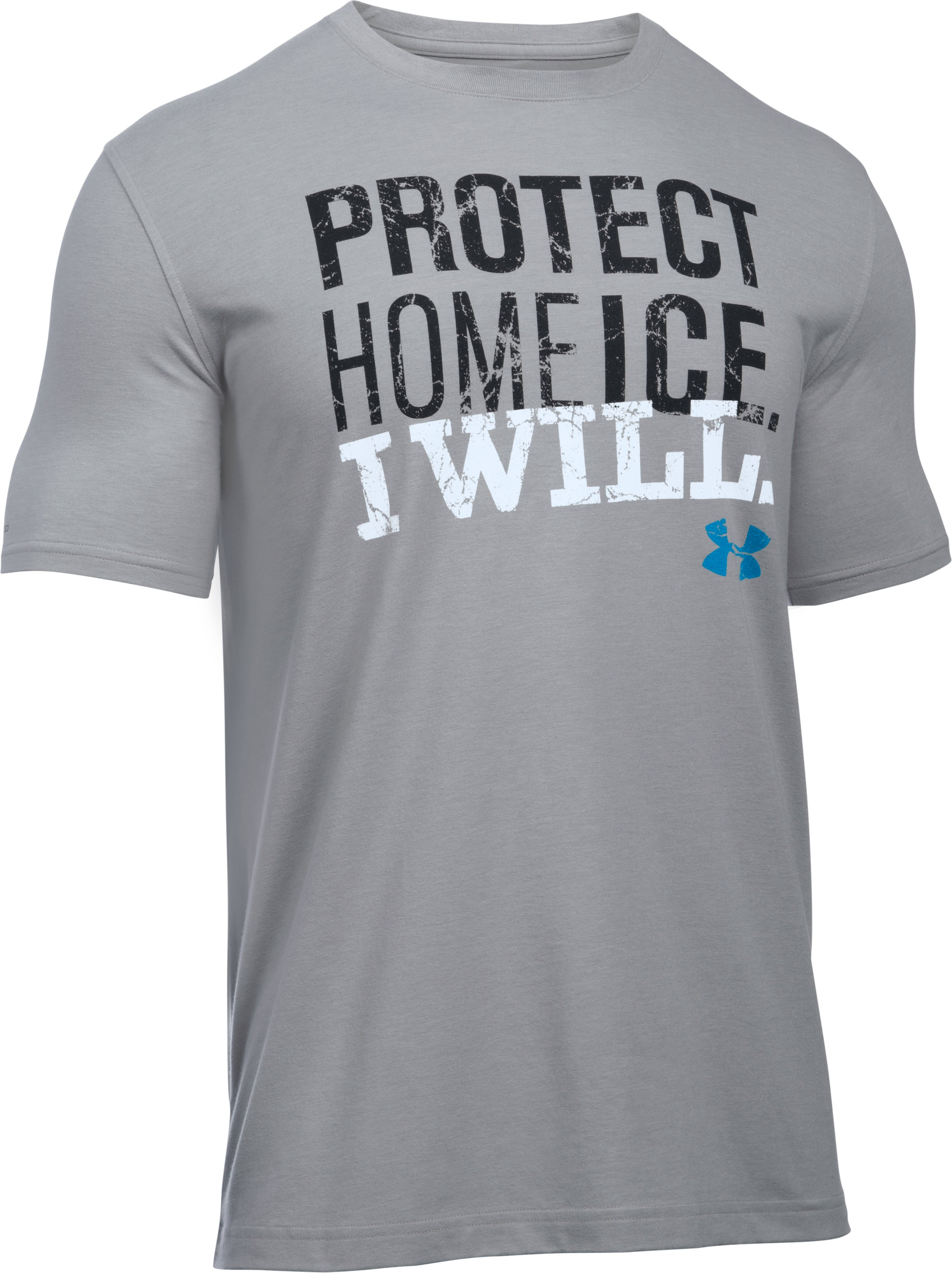 Men's UA Protect Home Ice T-Shirt, True Gray Heather,