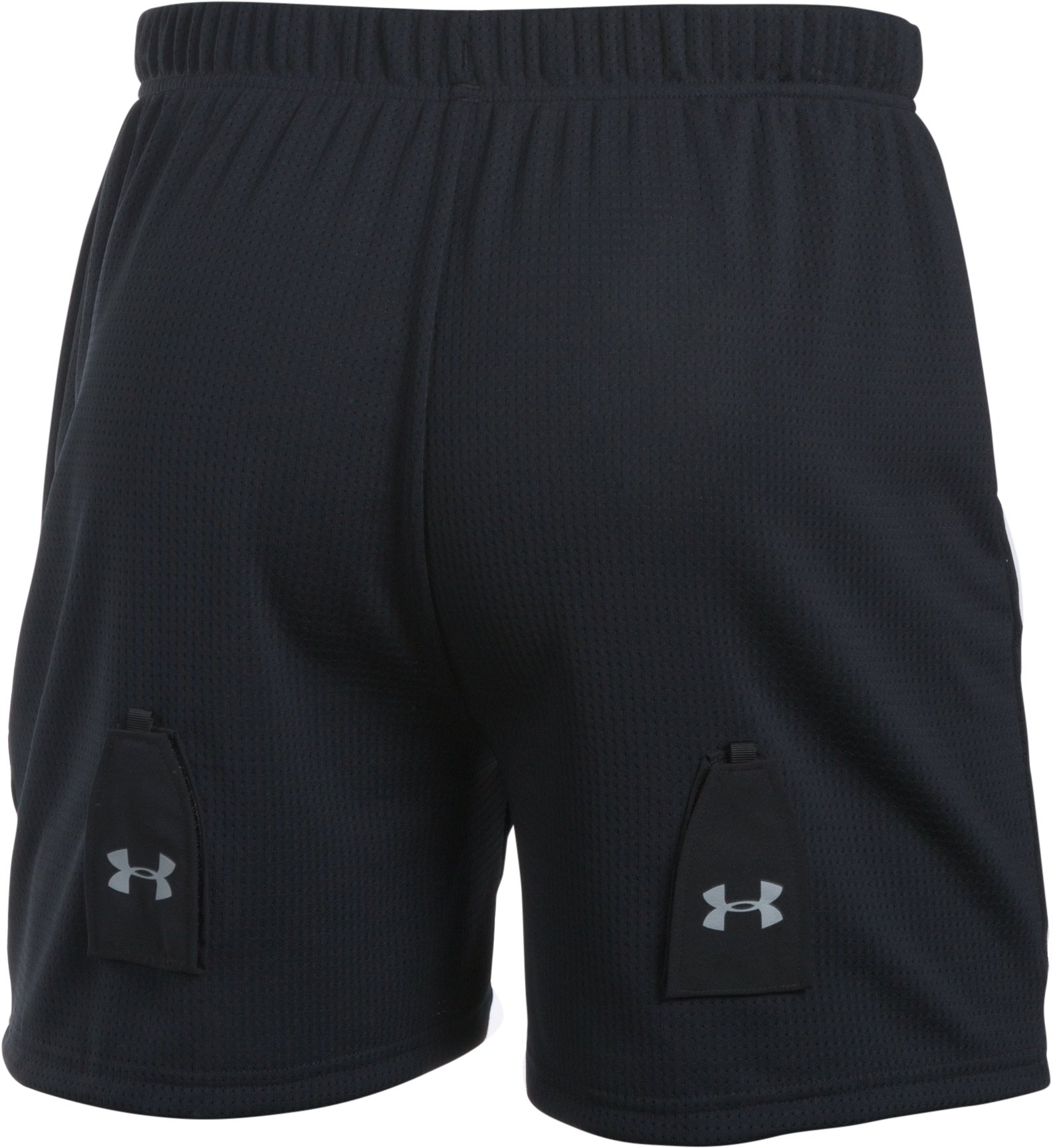Men's UA Hockey Mesh Shorts w/ Cup, Black ,