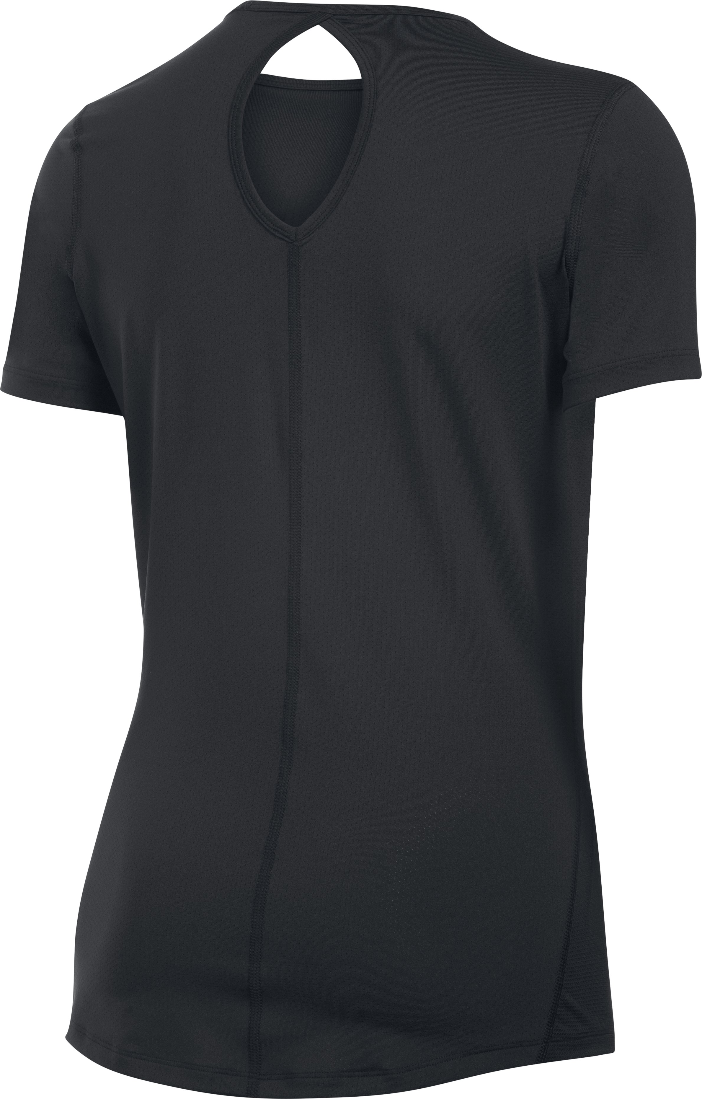 Women's UA HeatGear® CoolSwitch Short Sleeve, Black , undefined