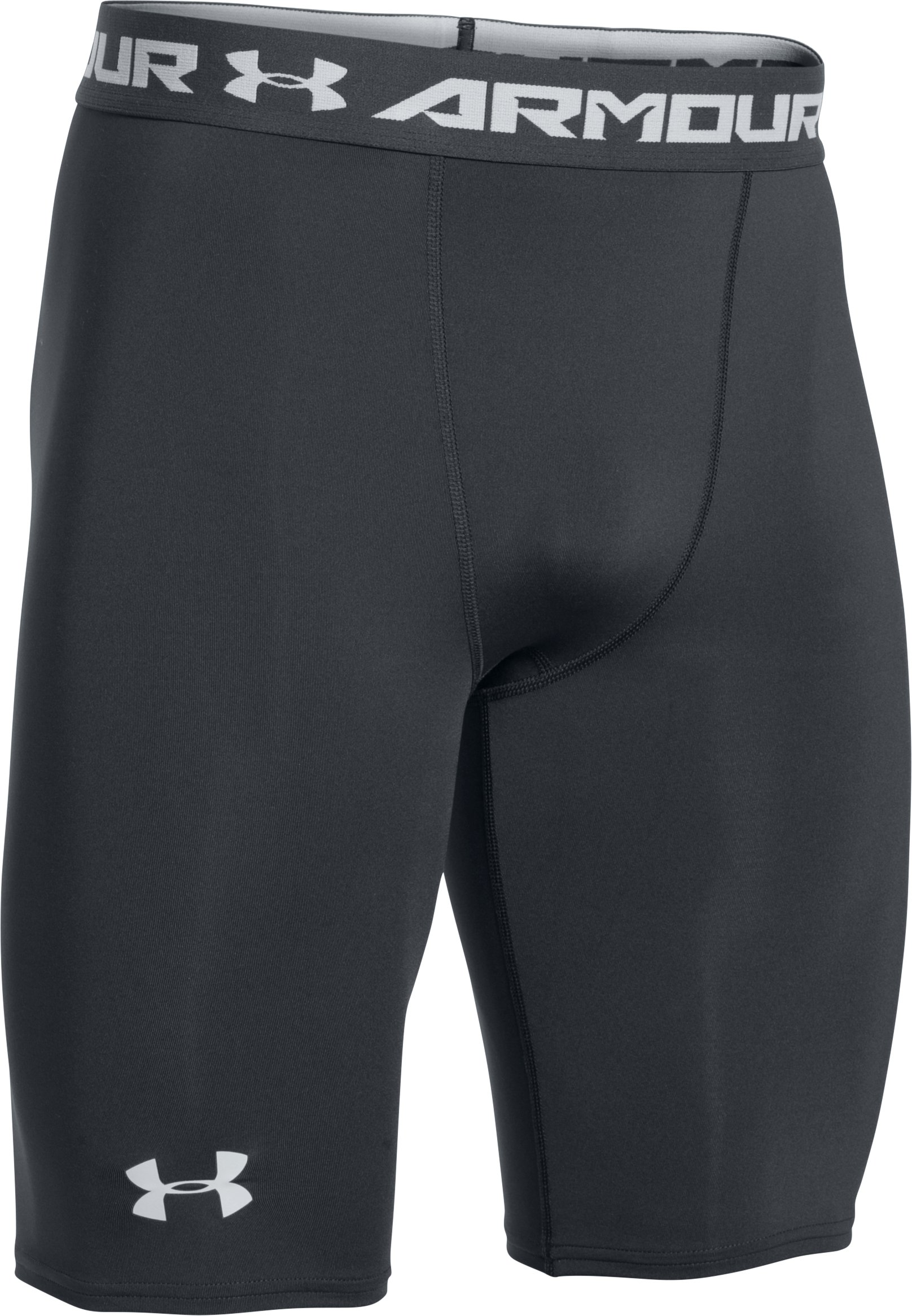 Men's UA HeatGear® Armour Graphic Compression Shorts – Long, ANTHRACITE