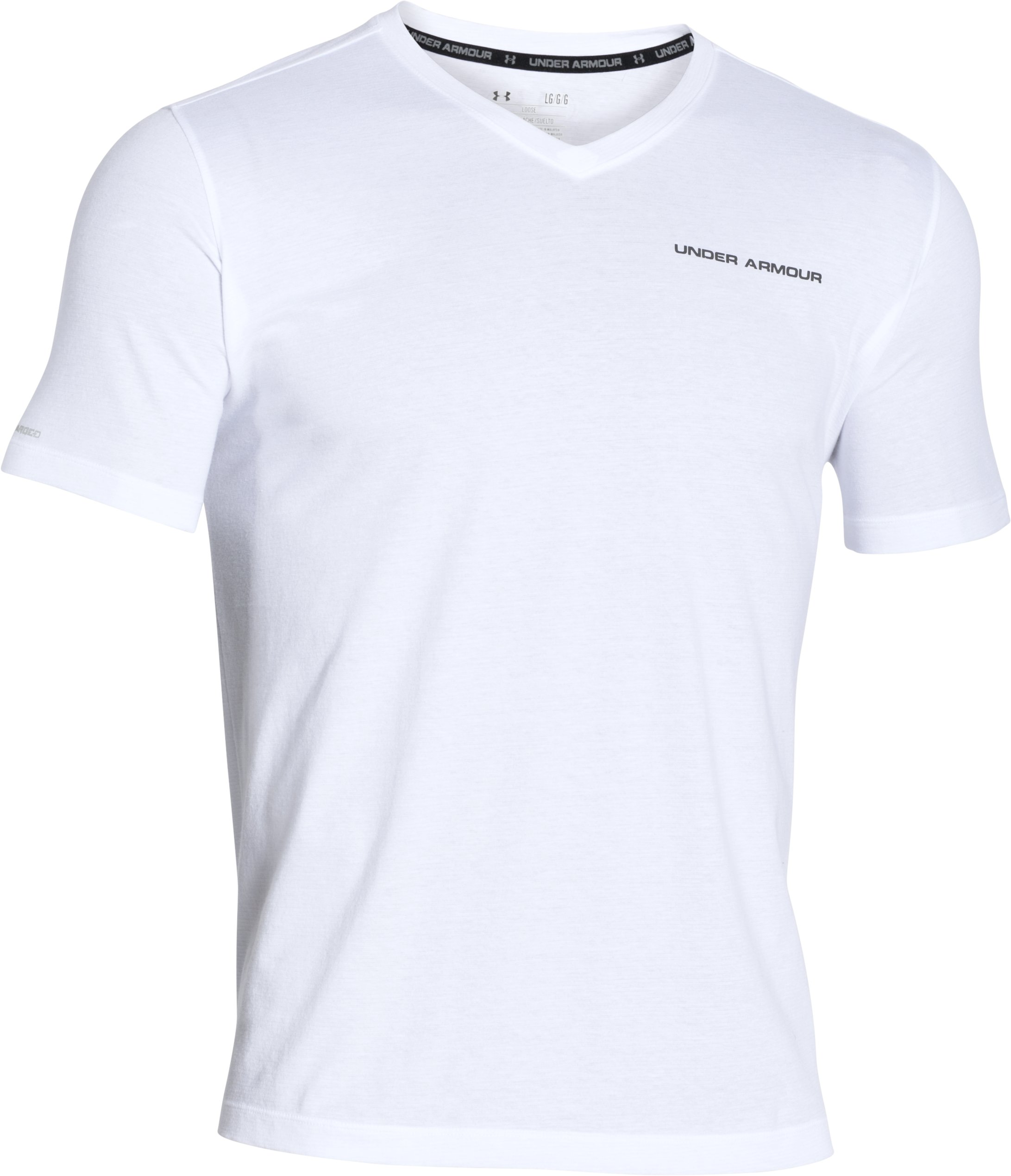 Men's Charged Cotton® V-Neck, White