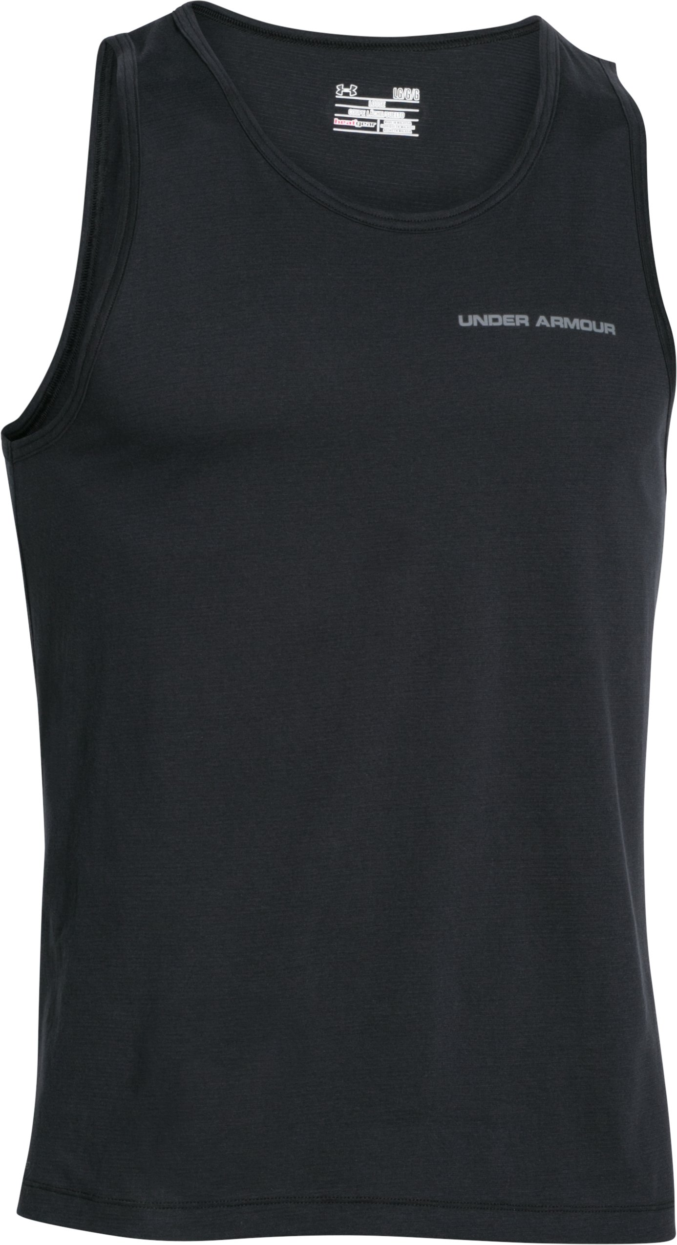 Men's Charged Cotton® Tank, Black