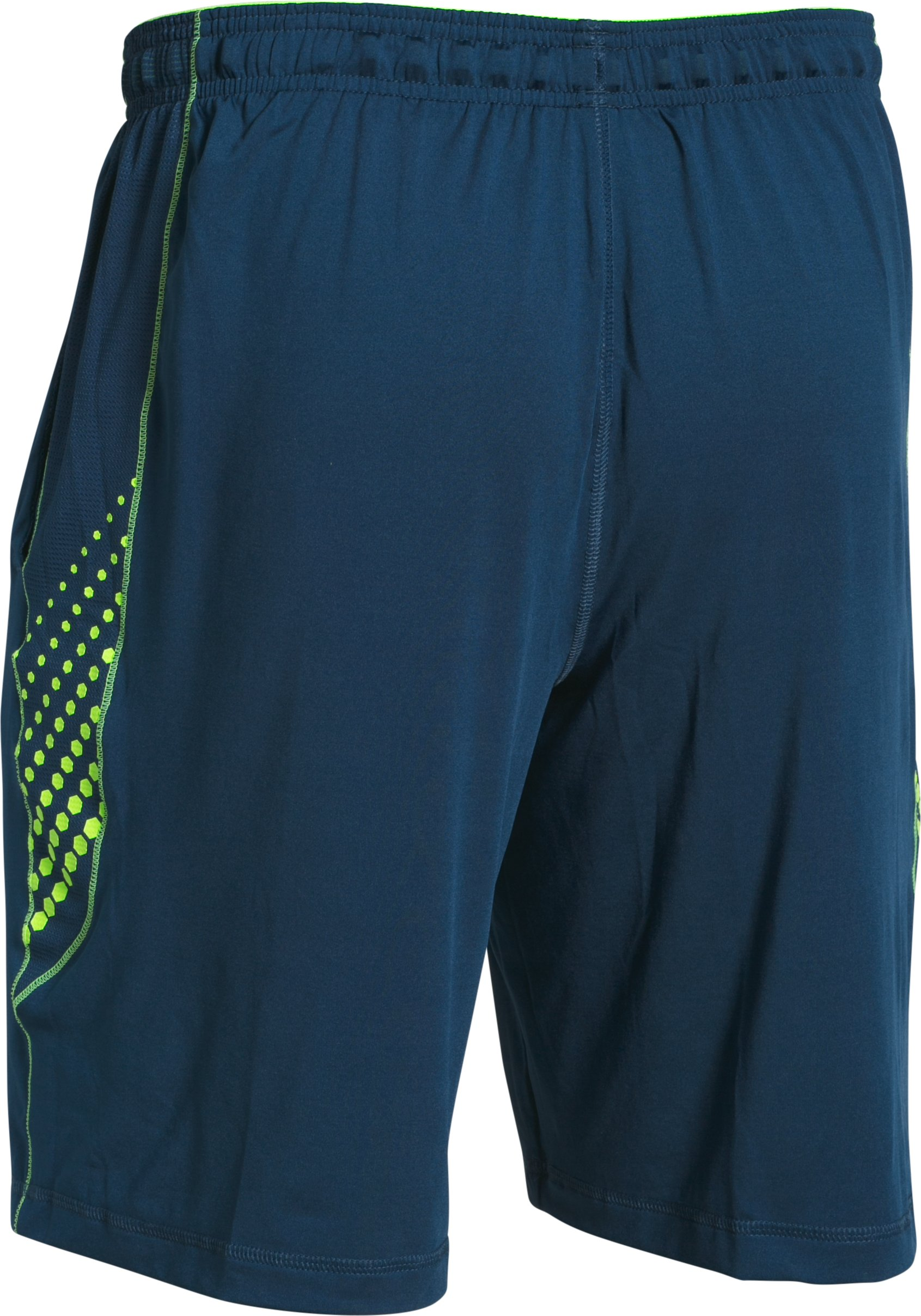 Men's UA Raid Graphic Shorts, BLACKOUT NAVY, undefined