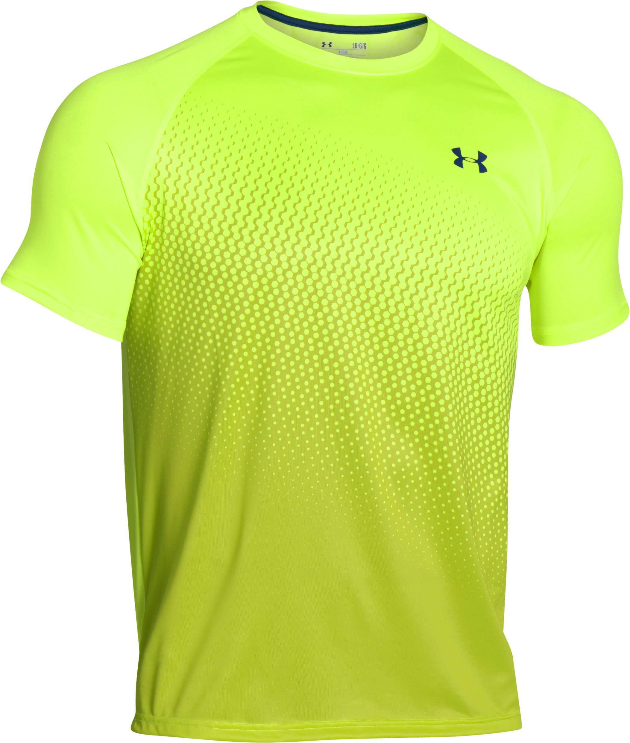 Men's UA Tech™ Graphic T-Shirt, FUEL GREEN
