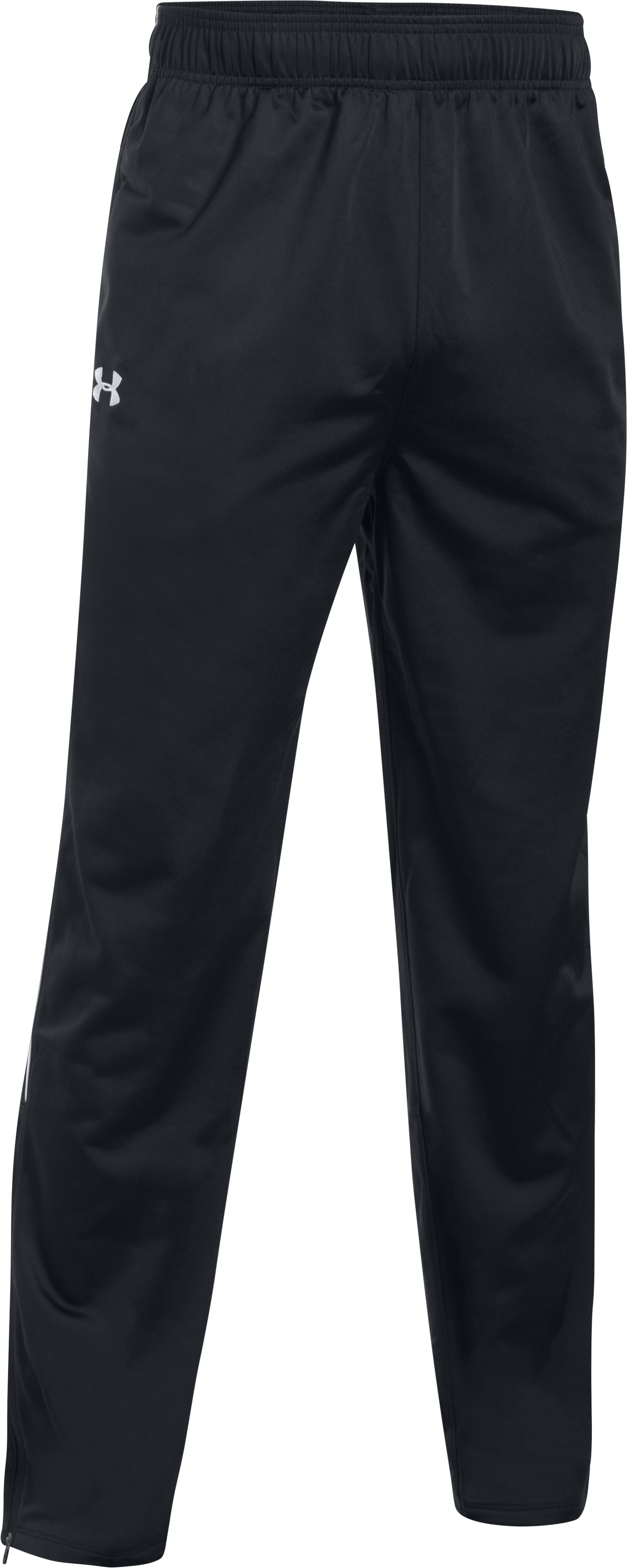 Men's UA Rival Knit Warm-Up Pants, Black , undefined