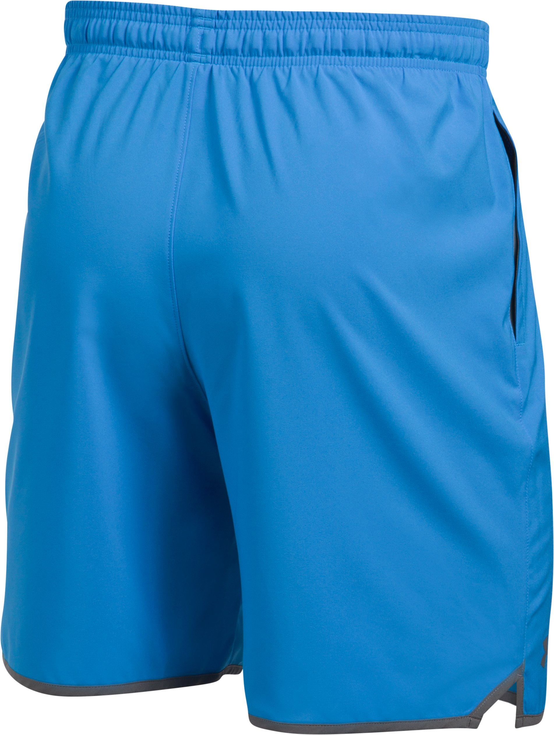"Men's UA Qualifier 9"" Woven Shorts, MAKO BLUE,"