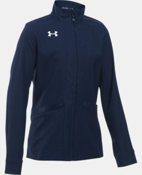 Girls' UA Pregame Woven Warm Up Jacket  1 Color $49.99
