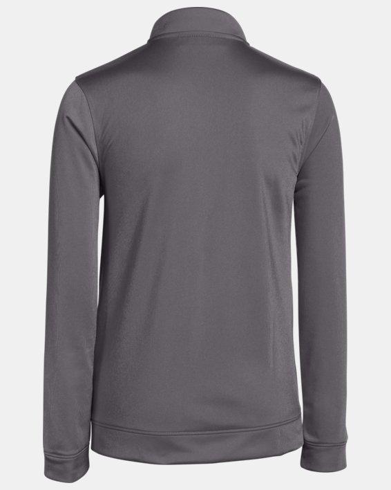 Boys' UA Rival Knit Warm-Up Jacket, Gray, pdpMainDesktop image number 1