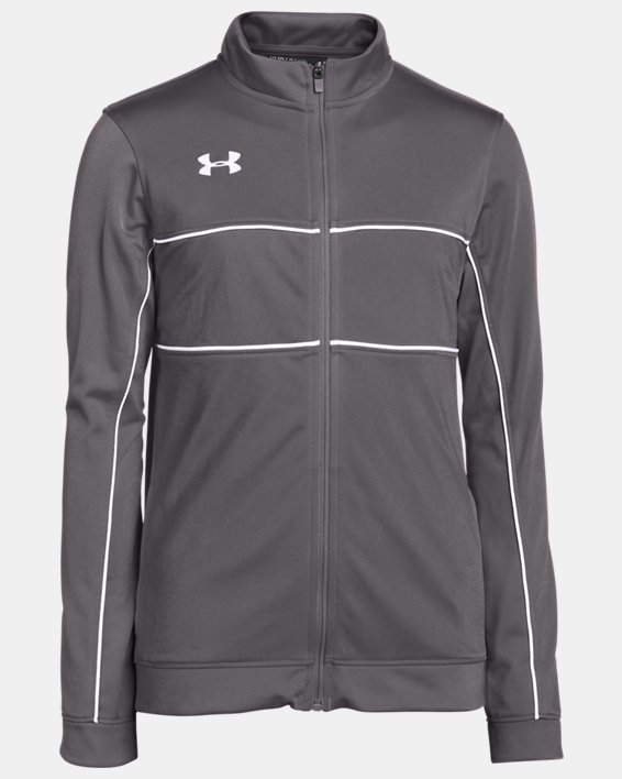 Boys' UA Rival Knit Warm-Up Jacket, Gray, pdpMainDesktop image number 0