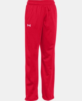 Boys' UA Rival Knit Warm Up Pants LIMITED TIME: FREE U.S. SHIPPING 1 Color $39.99