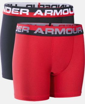 New Arrival  Boys' UA Original Series Boxerjock® 2-Pack LIMITED TIME: FREE SHIPPING 1 Color $22.99 to $29.99