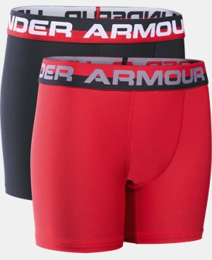 New Arrival Boys' UA Original Series Boxerjock® 2-Pack   $25