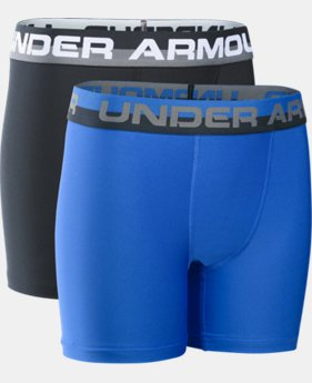 New Arrival  Boys' UA Original Series Boxerjock® 2-Pack LIMITED TIME: FREE SHIPPING 1 Color $29.99