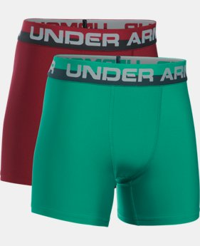 New Arrival  Boys' UA Original Series Boxerjock® 2-Pack LIMITED TIME: FREE SHIPPING 3 Colors $22.99 to $29.99