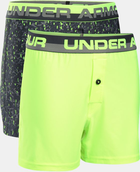 Boys' UA Original Series Boxer Shorts 2-Pack  1 Color $14.24
