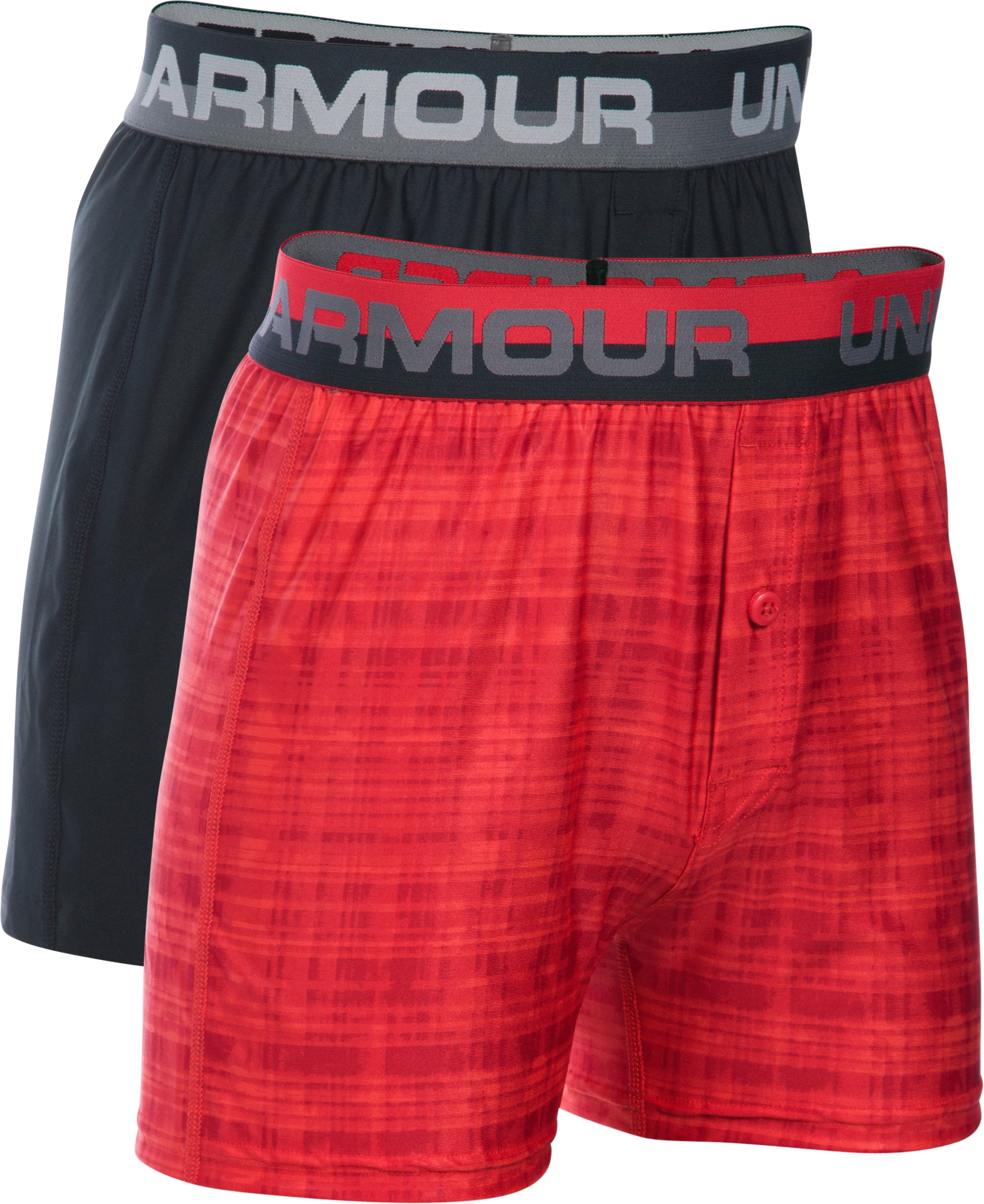 Boys' UA Original Series Boxer Shorts 2-Pack, Sultry, zoomed image