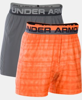 New Arrival  Boys' UA Original Series Boxer Shorts 2-Pack  2 Colors $29.99