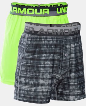 Boys' UA Original Series Boxer Shorts 2-Pack LIMITED TIME: FREE SHIPPING 1 Color $29.99