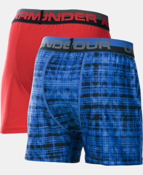 Boys' UA Original Series Boxer Shorts 2-Pack  1  Color Available $22.49 to $22.99