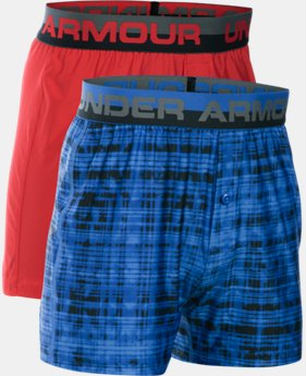 New to Outlet Boys' UA Original Series Boxer Shorts 2-Pack  1 Color $18.99
