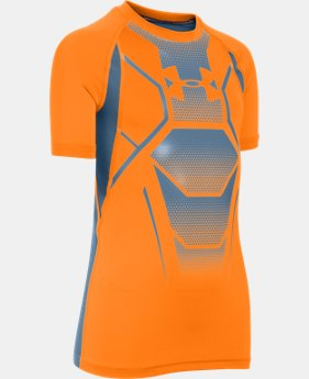 New Arrival Boy's UA HeatGear® Armour Up Shield Fitted Short Sleeve Shirt   $24.99