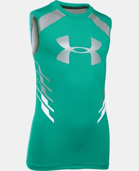 Boys' UA HeatGear® Armour Up Fadeaway Fitted Tank  2 Colors $18.99